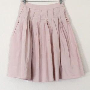 Talbots Pale Pink Pleated Midi Work Summer Skirt